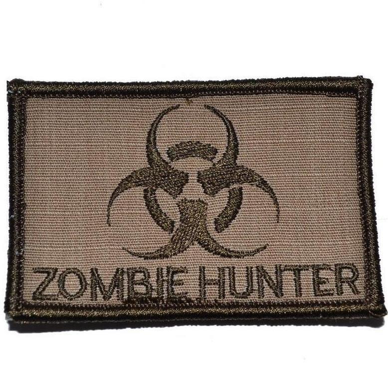 Tactical Gear Junkie Patches Coyote Brown Zombie Hunter Biohazard - 2x3 Patch