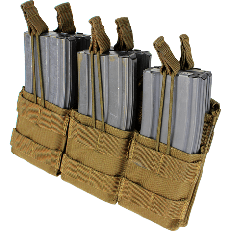 Condor Tactical Gear Coyote Brown Condor Triple Stacker M4 Mag Pouch