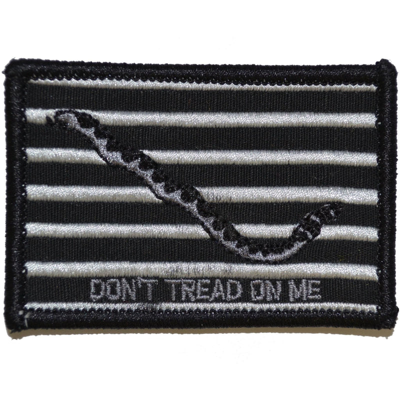 Tactical Gear Junkie Patches Black Original Gadsden Snake - Dont Tread On Me Flag - 2x3 Patch