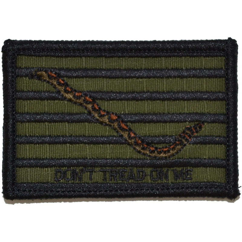 Tactical Gear Junkie Patches Olive Drab Original Gadsden Snake - Dont Tread On Me Flag - 2x3 Patch