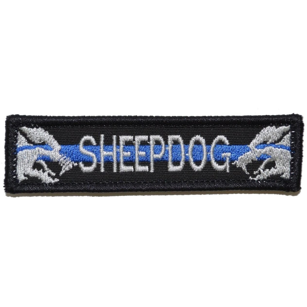 Sheepdog With Thin Blue Line - 1x3.75 Patch
