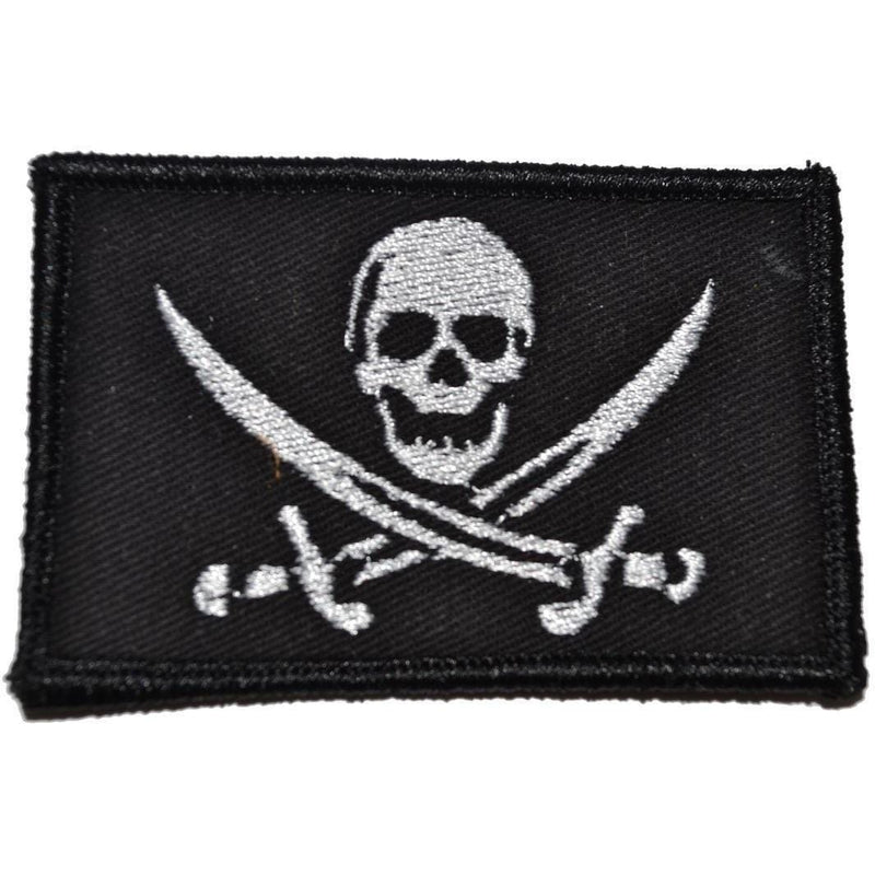Tactical Gear Junkie Patches Black Pirate Jolly Roger - 2x3 Patch