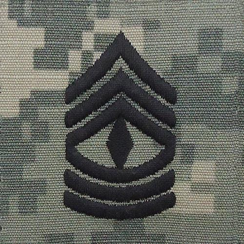 Tactical Gear Junkie Rank 1SG Army Rank - SEW ON - ACU