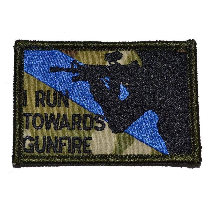 Tactical Gear Junkie Patches MultiCam I Run Towards Gunfire - 2x3 Patch
