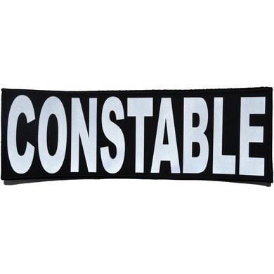 Reflective Constable Patch - 4inch x 12inch