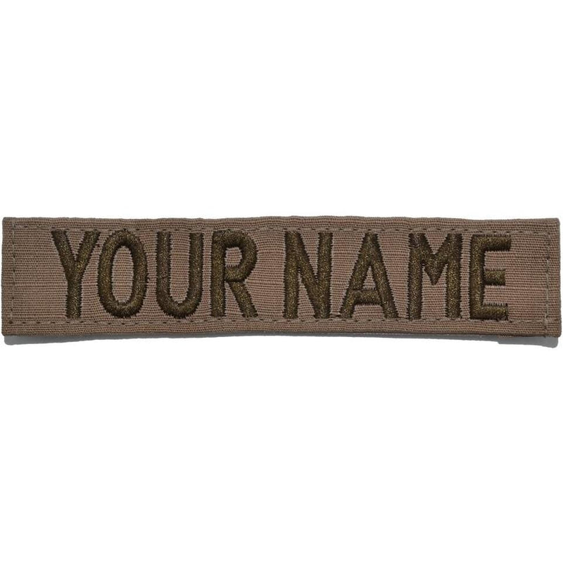 Tactical Gear Junkie Name Tapes RipStop Custom Name Tape - Coyote Brown