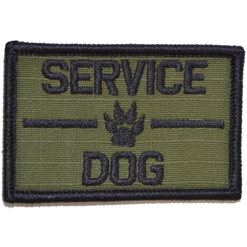 Tactical Gear Junkie Patches Olive Drab Service Dog, K9 Dog Patch - 2x3 Patch