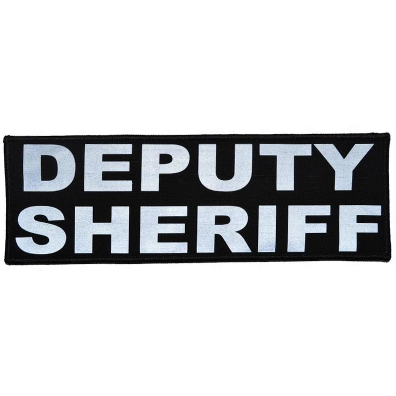 Tactical Gear Junkie Patches Black Deputy Sheriff Reflective - 3x9 Patch