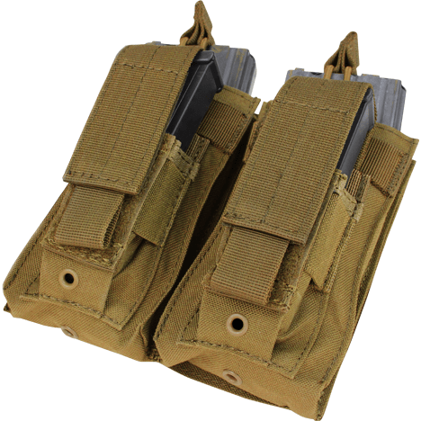 Condor Tactical Gear Coyote Brown Condor Double Kangaroo Mag Pouch M4 & Pistol