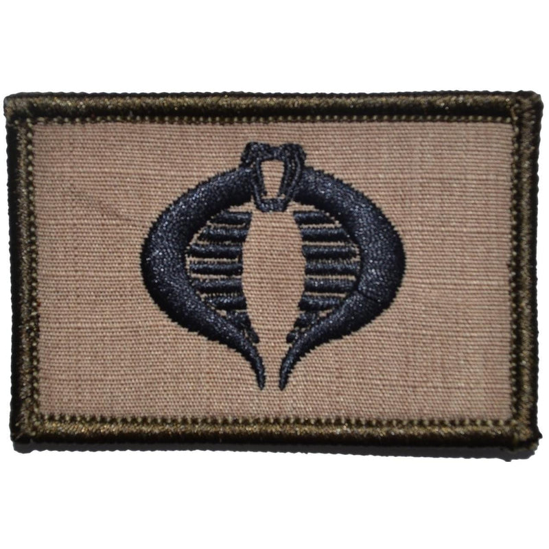 Tactical Gear Junkie Patches Coyote Brown w/ Black COBRA Command Seal - 2x3 Patch