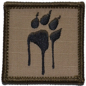 Dripping Tracker Paw - 2x2 Patch
