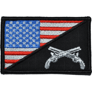 Military Police MP USA Flag 2.25 x 3.5 inch Patch