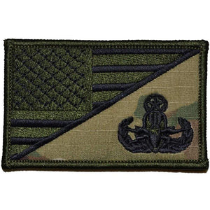 Explosive Ordnance Disposal MASTER EOD USA Flag 2.25 x 3.5 inch Patch