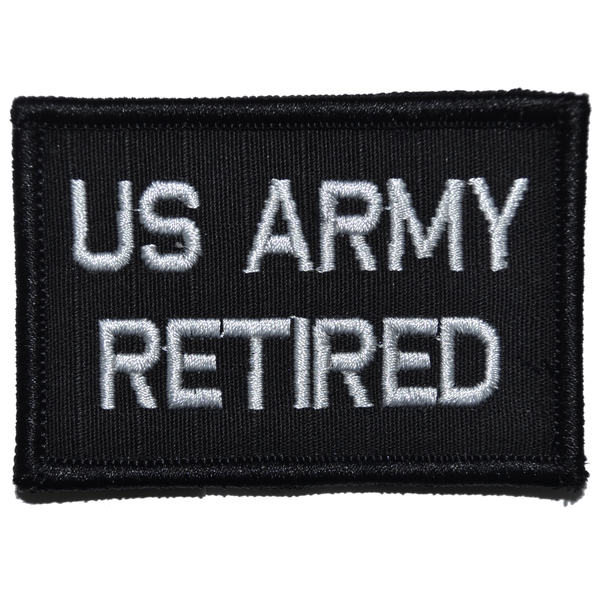 Tactical Gear Junkie Patches Black US Army Retired- 2x3 Patch