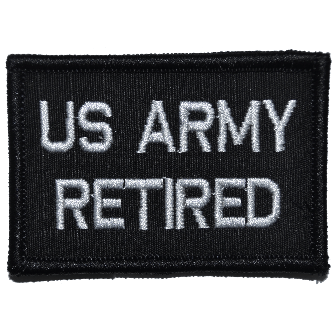 US Army Retired- 2x3 Patch