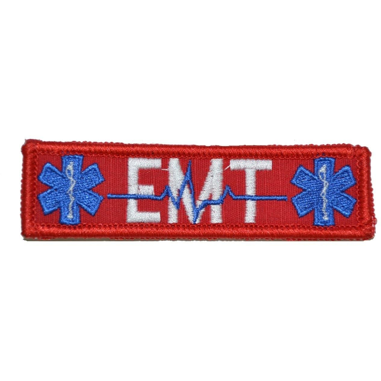 Tactical Gear Junkie Patches Red EMT Heartbeat and Stars of Life - 1x3.75 Patch