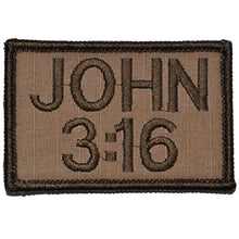 John 3:16 2x3 Bible Patch