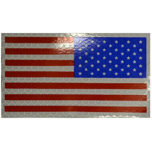 Reflective USA Flag, Reverse Facing (Full Color) - 2x3.5 Patch