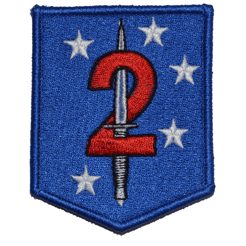 Tactical Gear Junkie Patches Full Color 2d Marine Raider Battalion MarSOC - 2.5x3 Shield Patch