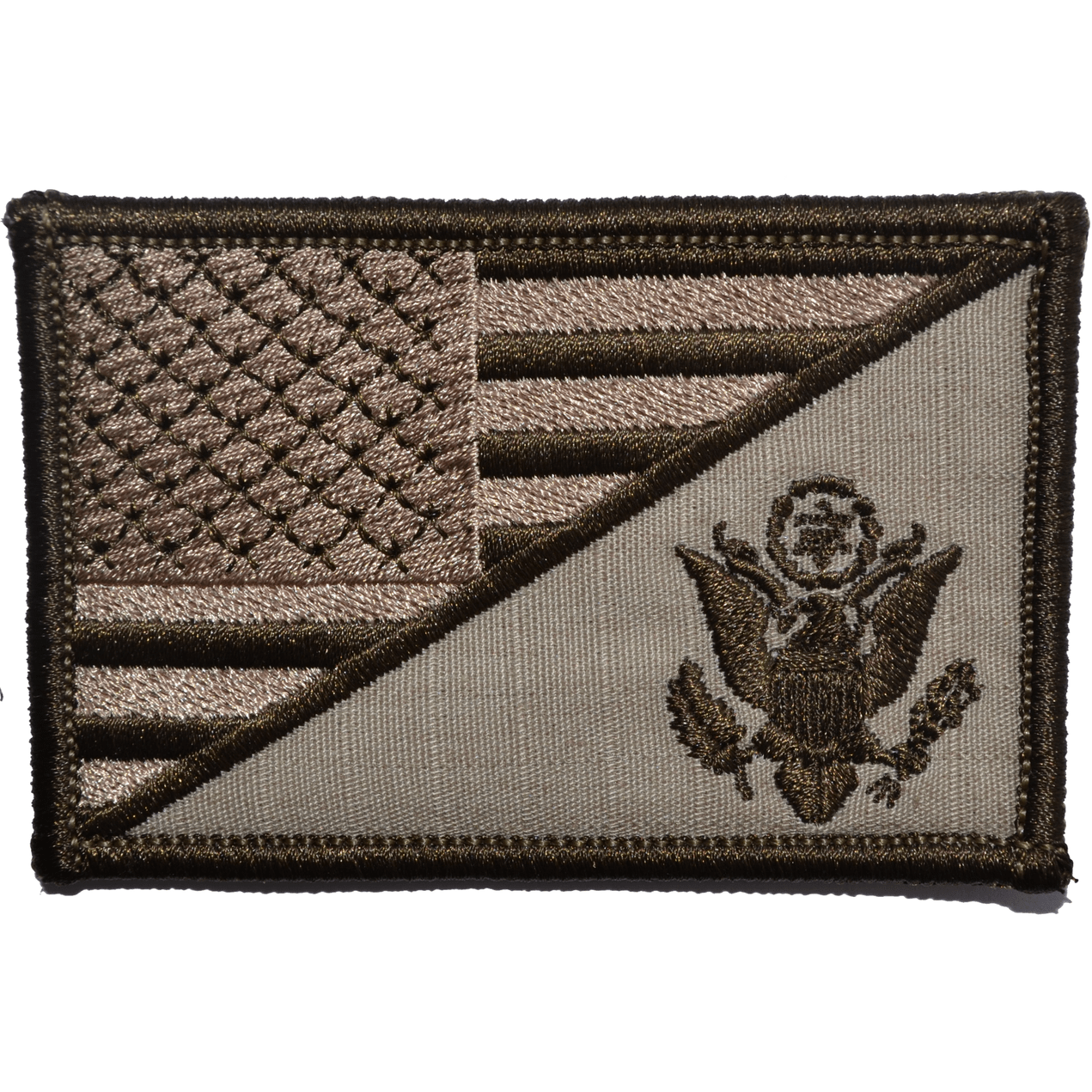 Tactical Gear Junkie Patches Desert Sand US Army Crest USA Flag - 2.25x3.5 Patch