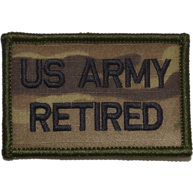 Tactical Gear Junkie Patches MultiCam US Army Retired- 2x3 Patch
