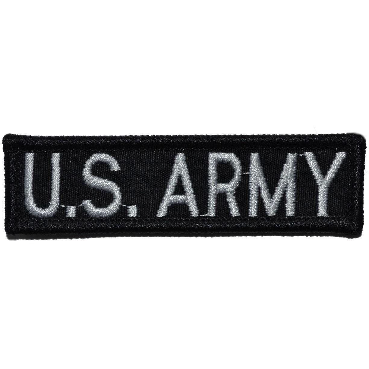 Tactical Gear Junkie Patches Black U.S. Army - 1x3.75 Patch