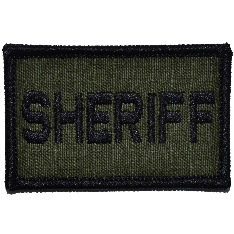 Tactical Gear Junkie Patches Olive Drab Sheriff - 2x3 Patch