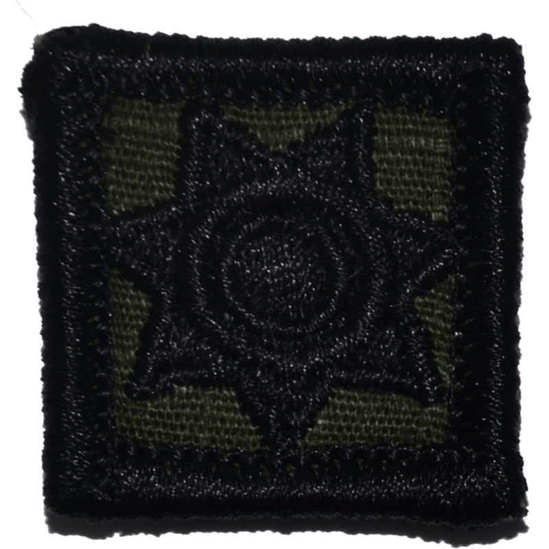 Tactical Gear Junkie Patches Olive Drab Police Shield Badge - 1x1 Patch