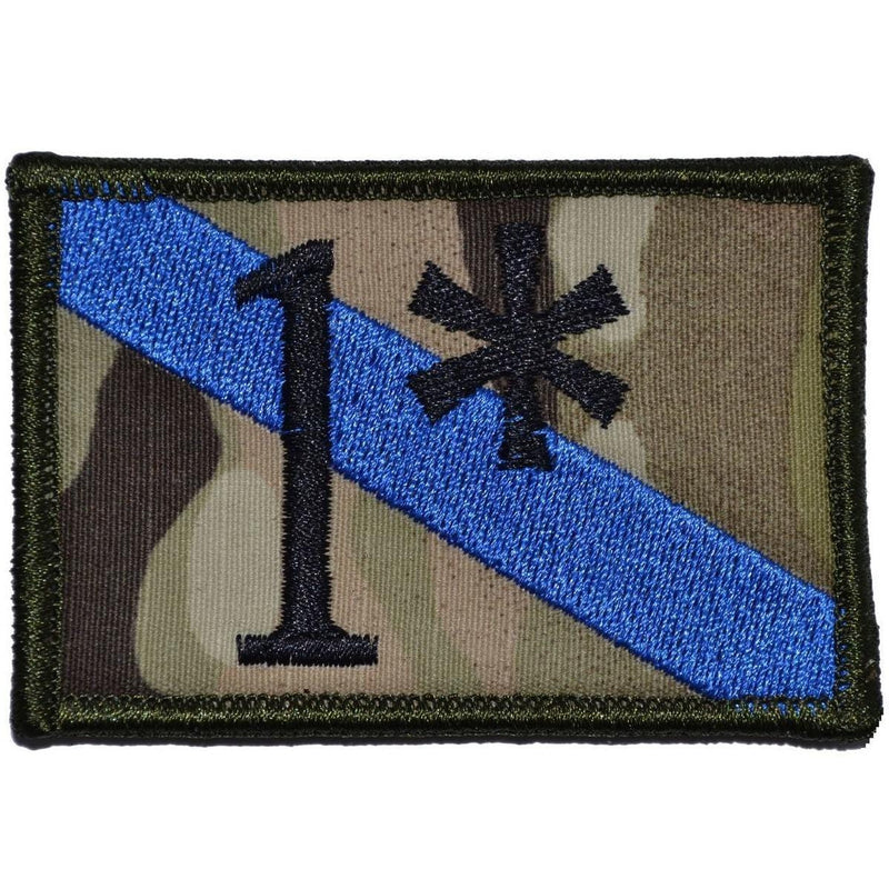 Tactical Gear Junkie Patches MultiCam 1* One Ass to Risk Thin Blue Line Police - 2x3 Patch