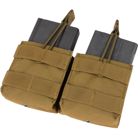 Condor Tactical Gear Coyote Brown Condor Double Open-Top M14 Mag Pouch