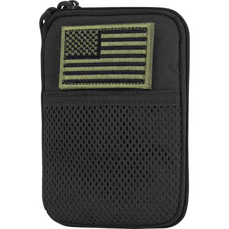 Condor Tactical Gear Black Condor Pocket Pouch with US Flag Patch