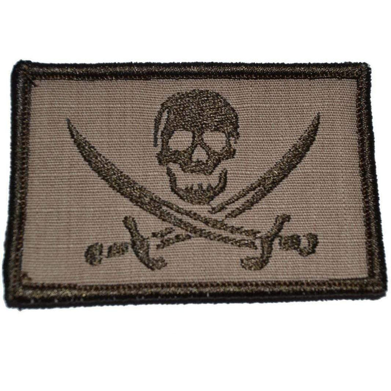 Tactical Gear Junkie Patches Coyote Brown Pirate Jolly Roger - 2x3 Patch