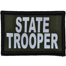 Reflective State Trooper Patch - 2inch x 3inch