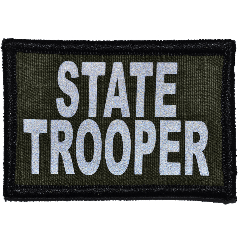 Tactical Gear Junkie Patches Olive Drab State Trooper Reflective - 2x3 Patch
