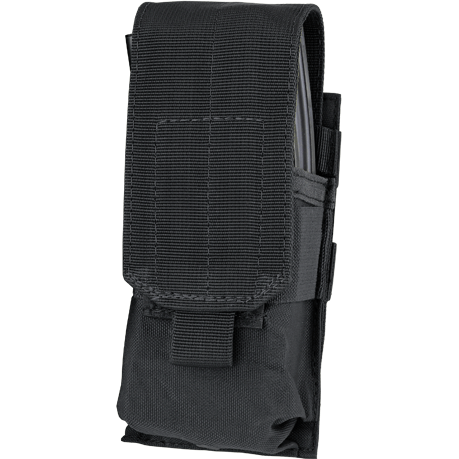 Condor Tactical Gear Black Condor Single M4 Hook & Loop Top Mag Pouch