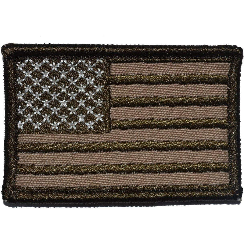 Tactical Gear Junkie Patches Left Face (Forward) Coyote Brown USA Flag - 2x3 Patch