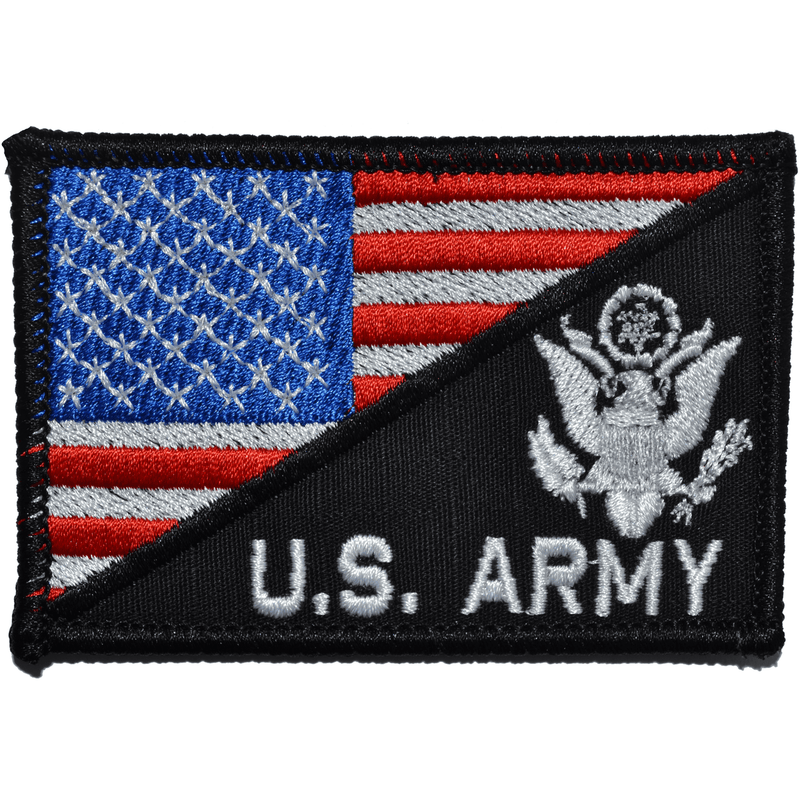 Tactical Gear Junkie Patches Full Color US Army Crest With Text USA Flag - 2.25x3.5 Patch