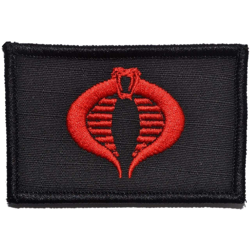 Tactical Gear Junkie Patches Black w/ Red COBRA Command Seal - 2x3 Patch