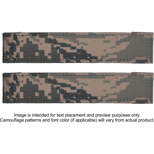 Tactical Gear Junkie Name Tapes 2 Piece Custom Name Tape Set w/ Hook Fastener Backing - ABU
