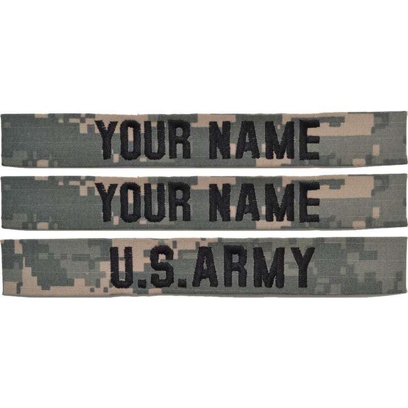 Tactical Gear Junkie Name Tapes 3 Piece Custom Name Tape Set - SEW ON - ACU