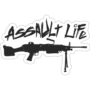 Assault Life Tactical M249 LMG - 6x4 Sticker