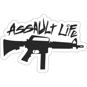 Assault Life Tactical AR-9 (9mm) - 6x4 inch Sticker