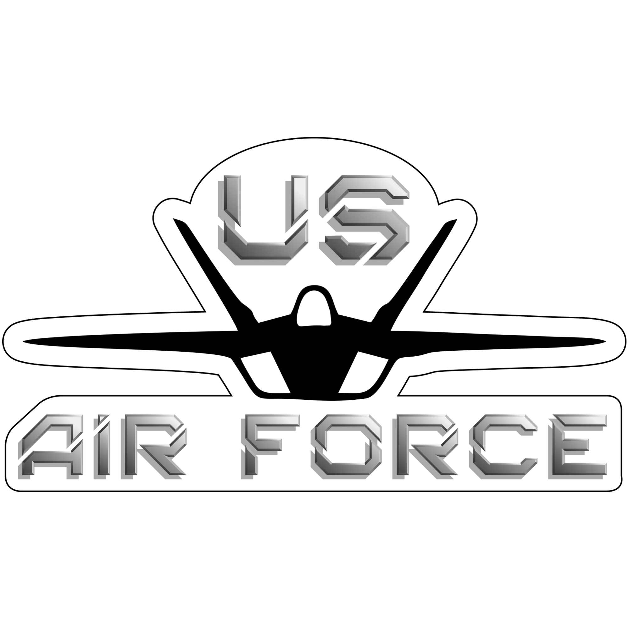 United States Air Force Fighter Jet - 6x3.5 inch Magnet