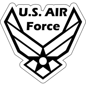 United States Air Force Emblem Outline - 4.5x4 inch Sticker
