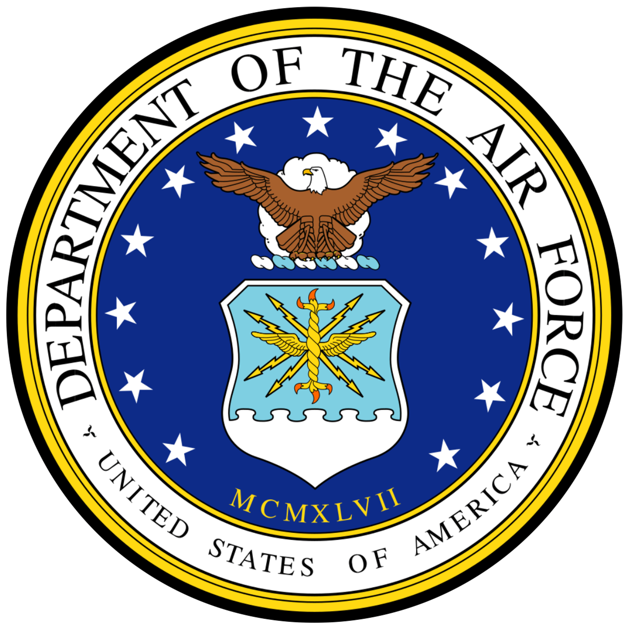 United States Air Force Crest - 4 inch Sticker