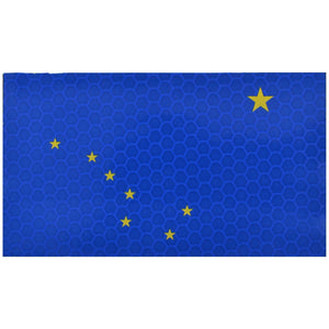 Reflective Alaska State Flag - 2x3.5 Patch