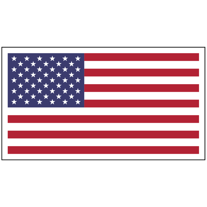 Tactical Gear Junkie Stickers USA Flag - 4x2.25 inch Sticker