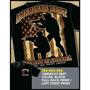 "7.62 Design Shirt ""America's Best Are Not in America"""