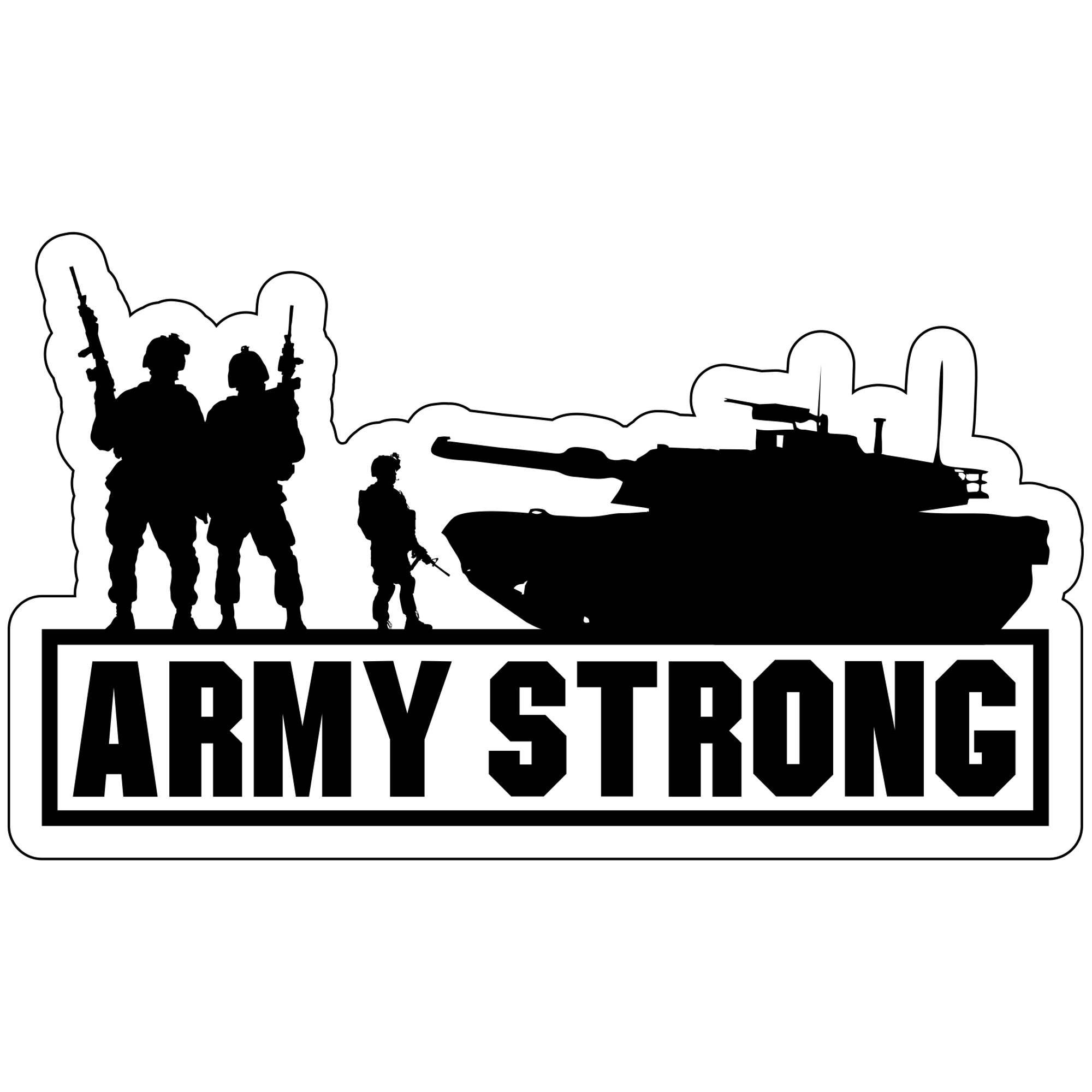 "United States ""Army Strong"" Tank - 6.5x4 inch Magnet"