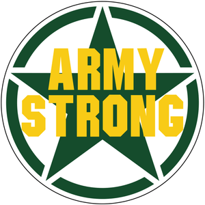 "United States ""Army Strong"" Star - 4 inch Sticker"
